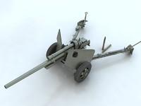 3dsmax 3-inch gun