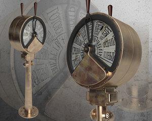 bronze telegraph machine 3d model