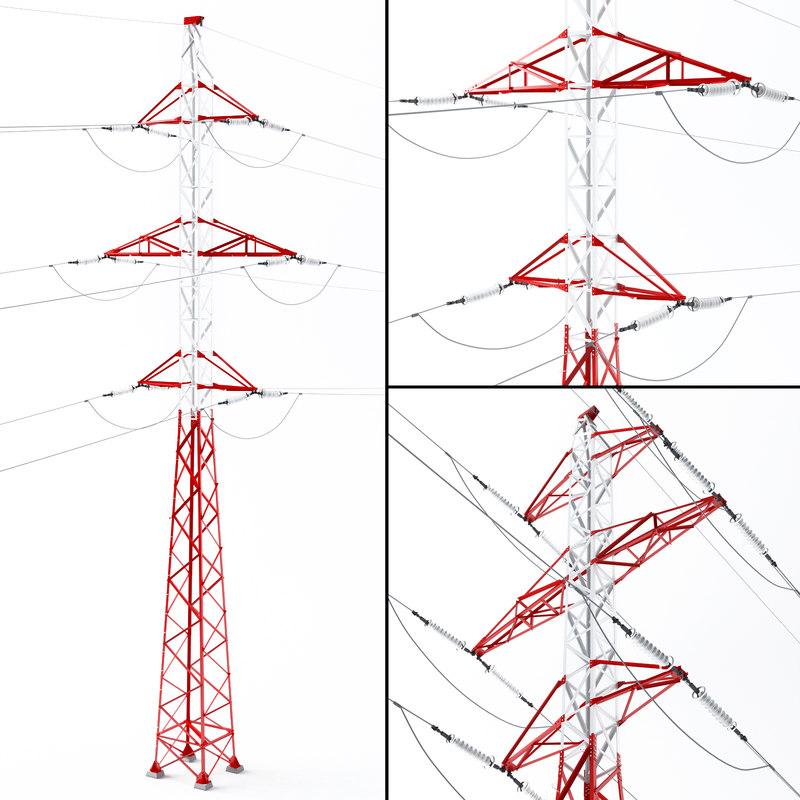 3d model of transmission tower