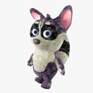 3d model raccoon toy