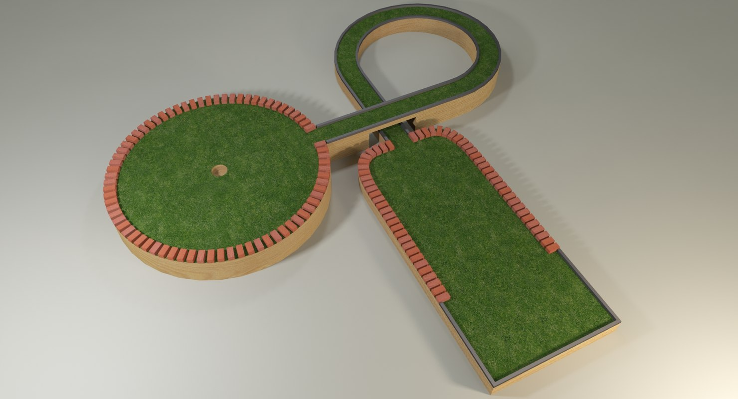 3d model mini golf hole