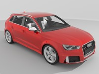 audi rs3 sportback 2016 3d model
