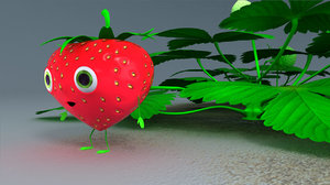 obj strawberry character rig