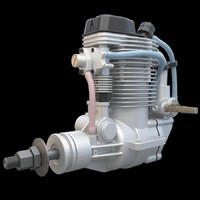 3ds max airplane engine