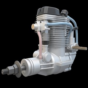 3ds max airplane engine