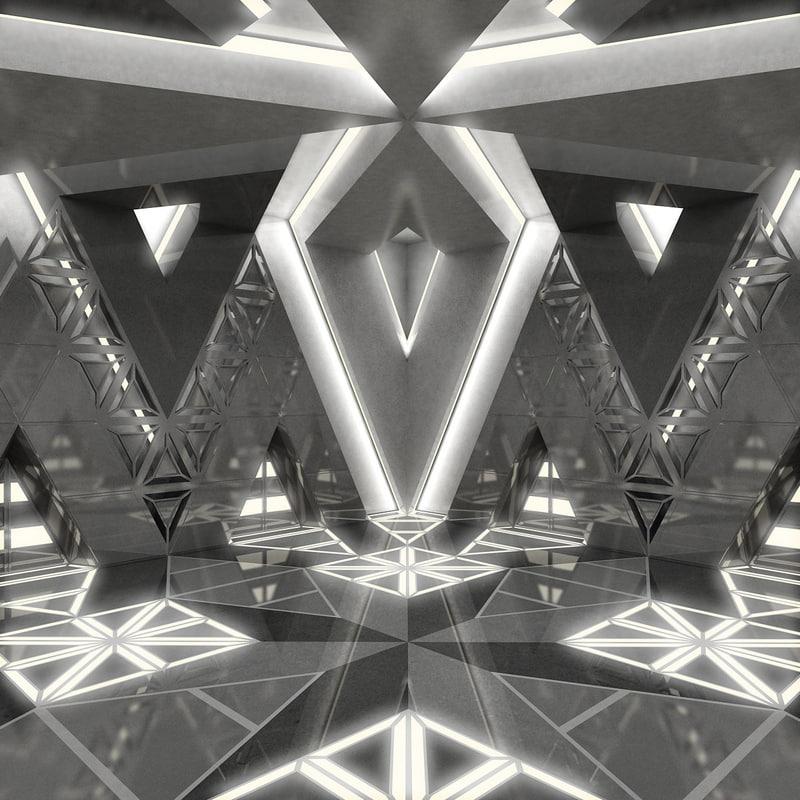 3d max futuristic interior