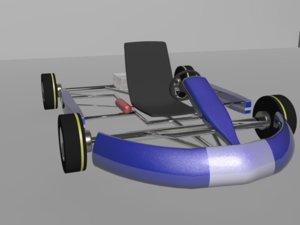 3d racing kart model