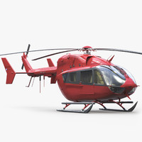 3d ec 145 business helicopter interior model
