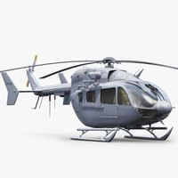 3dsmax ec 145 military helicopter