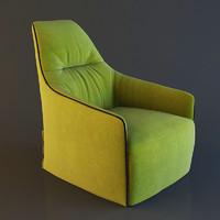 3dsmax poliform santa lounge