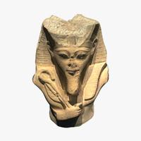 3d tutankhamun - statue model
