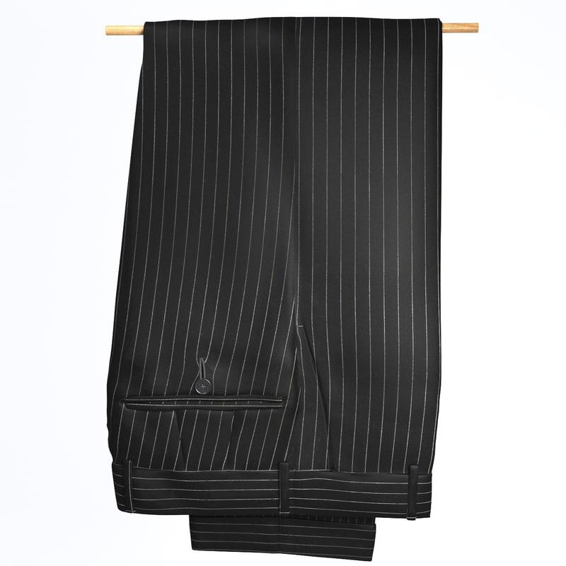 3d pants hanging model