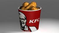 kfc bucket 3d model