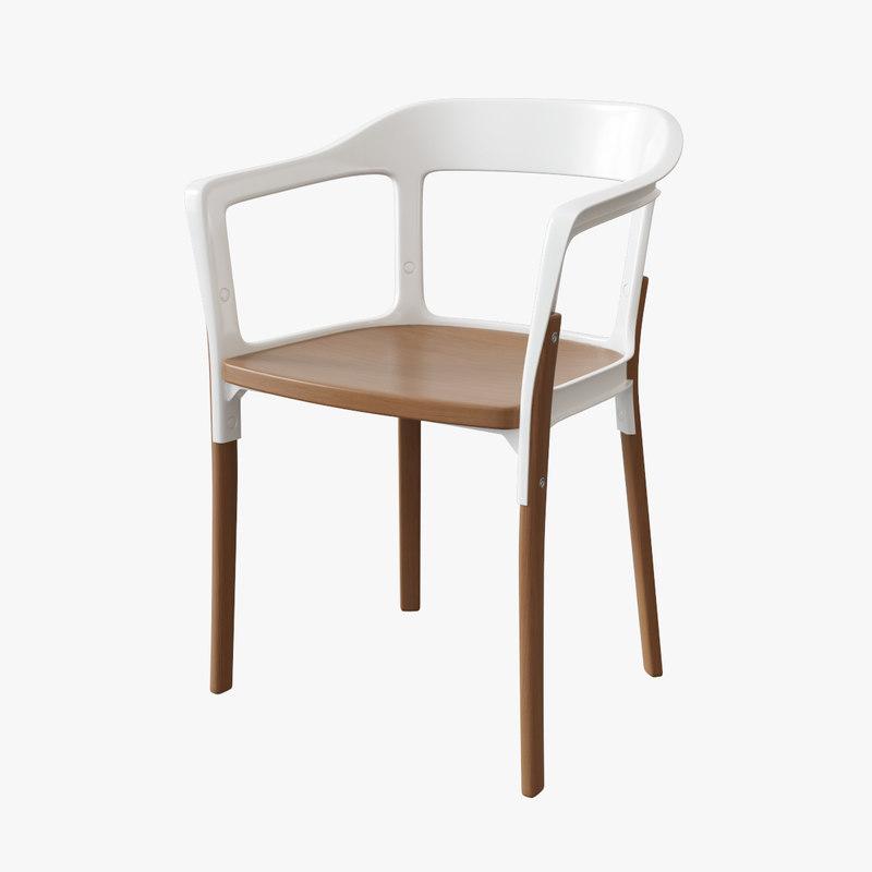 3d Magis Steelwood Chair Model