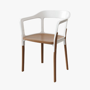 3d magis steelwood chair model