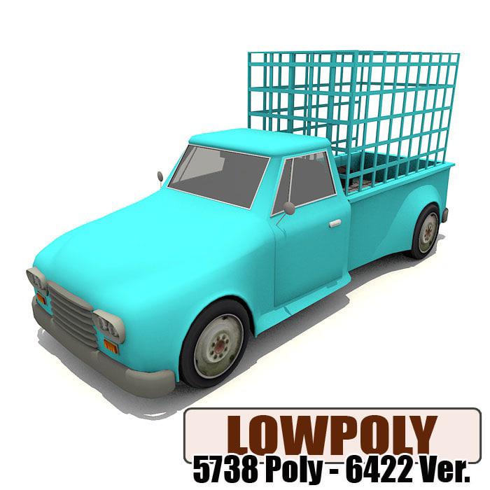 3d model pickup games ready
