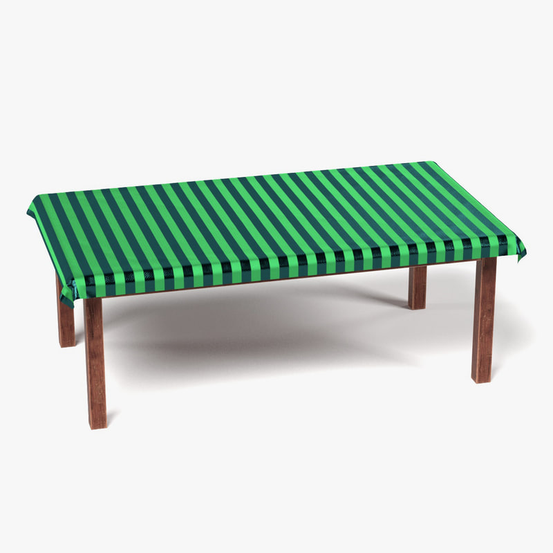 3ds table tablecloth rectangular