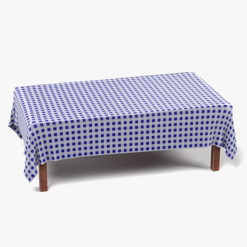 3ds max table tablecloth rectangular