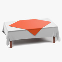 3d obj table tablecloth rectangular