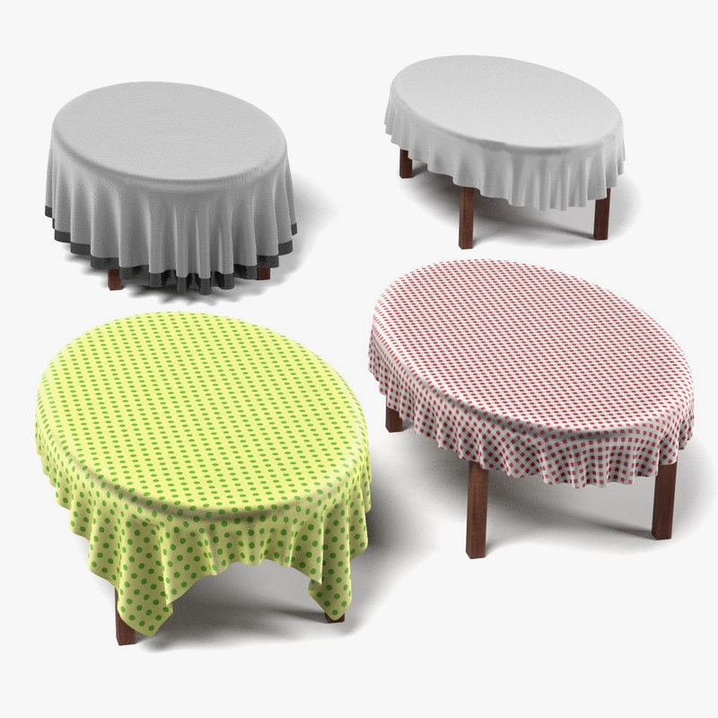 table oval 3d 3ds