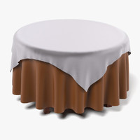 3d model table tablecloth
