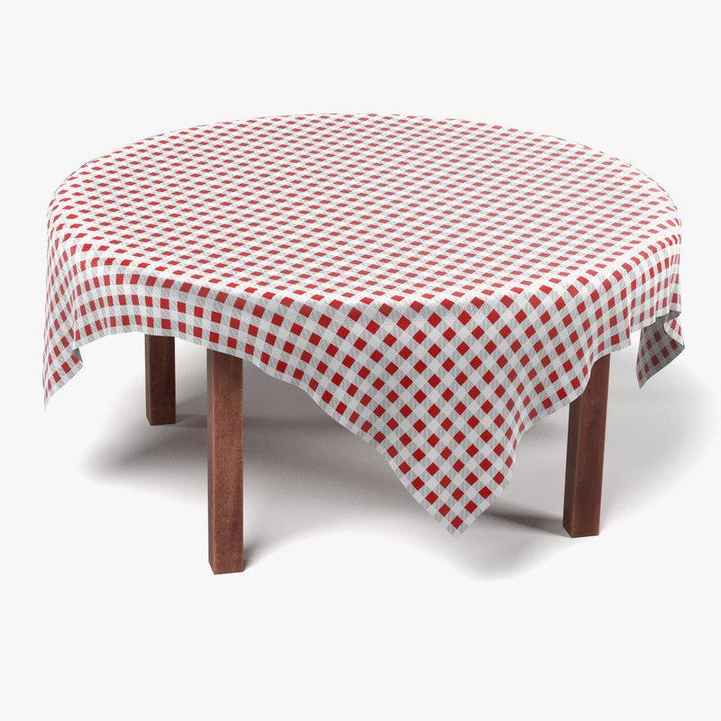 3d table tablecloth model