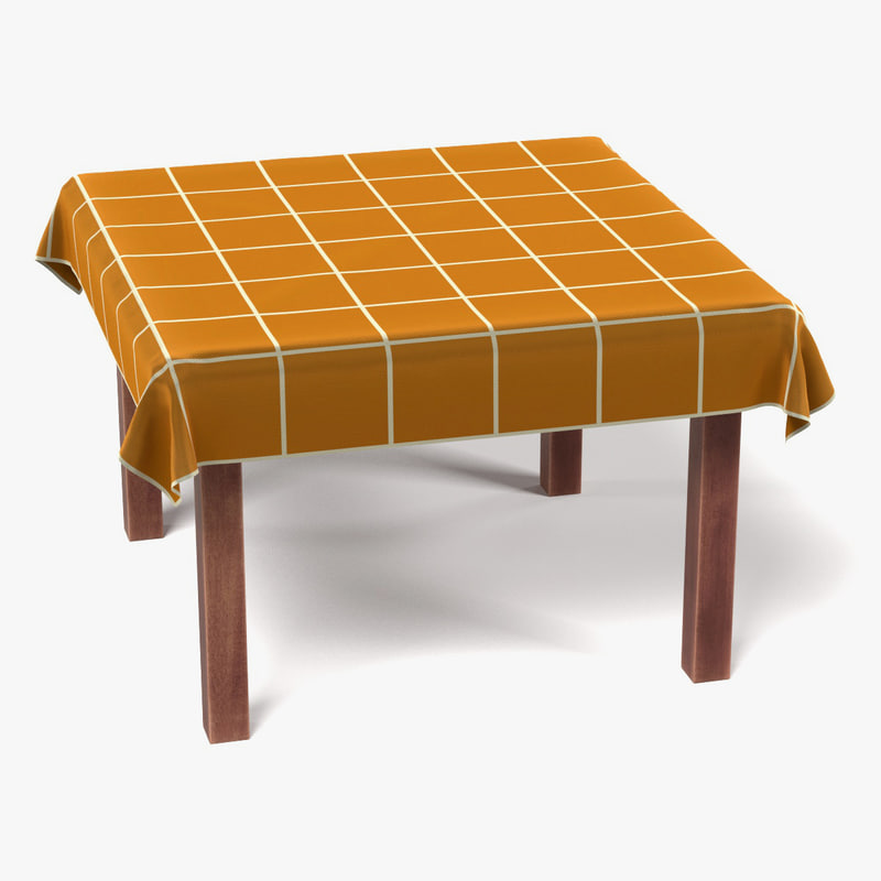3d model table tablecloth square