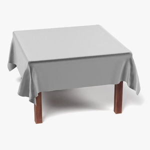 3d table tablecloth square model