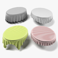 tableclothes oval 3ds