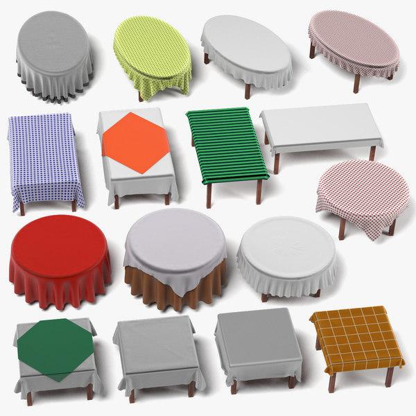 3d tables tableclothes model