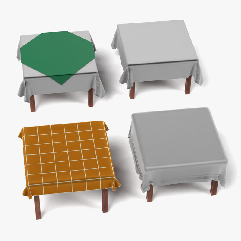 tables tableclothes square 3d 3ds