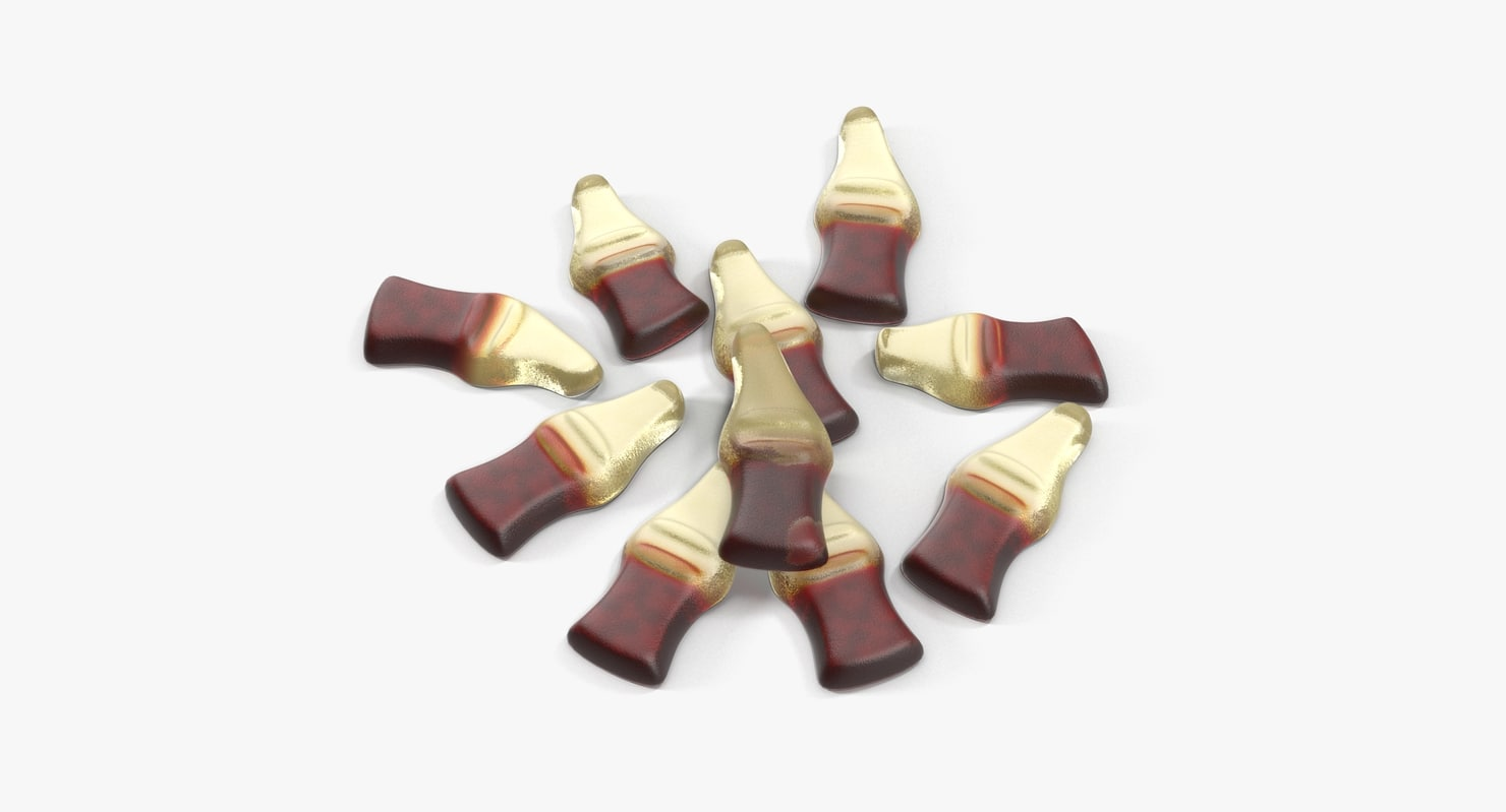 gummy cola 3d model