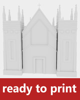 church print 3d obj