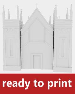 church print 3d obj