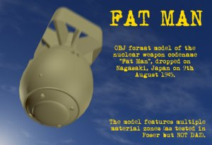 free obj model fat man atomic bomb