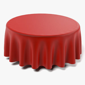 3d table cloth tablecloth model