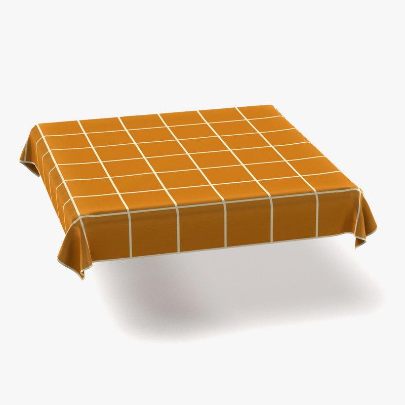 3d tablecloth square