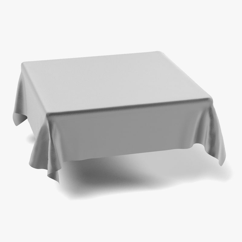 tablecloth square 3d model