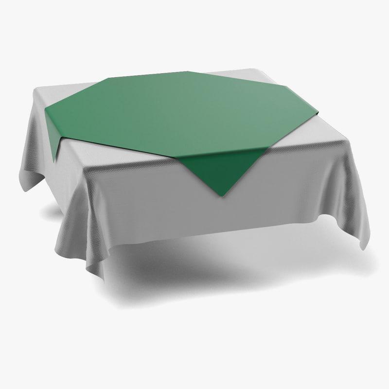 3d fbx tablecloth square