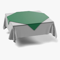3d fbx tablecloth square