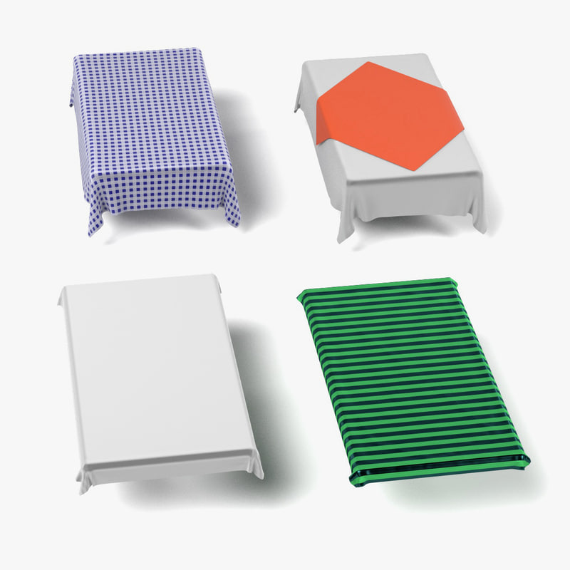 tableclothes rectangular 3d model