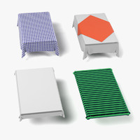 tableclothes rectangular 3d model