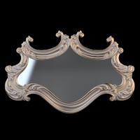 3d model classical mirror
