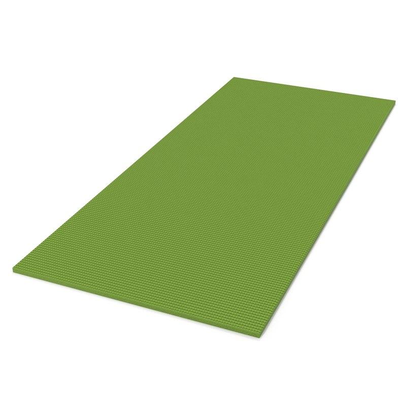 Flat Yoga Mat Green 3d Model