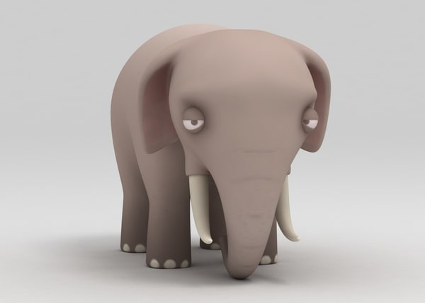 cartoon elephant 3d model