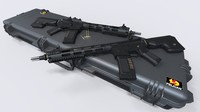 accurate m4-am009 3d max