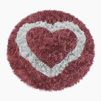 3d model heart rug