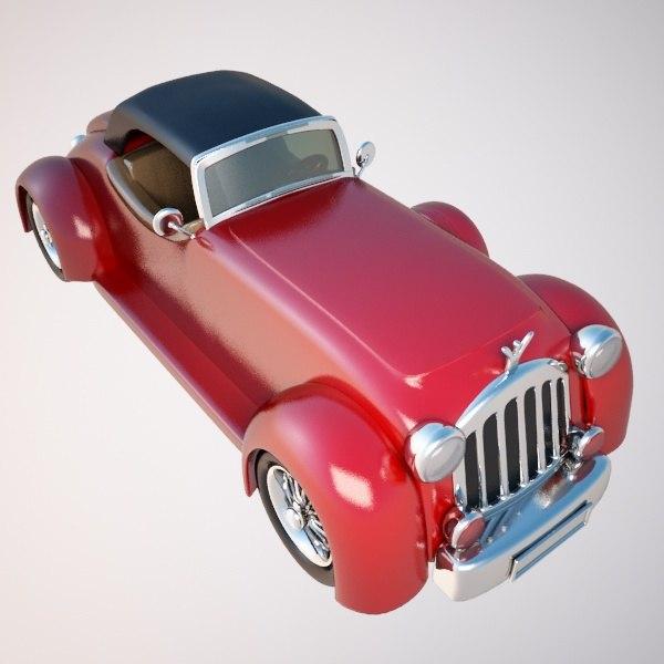 3d car vintage
