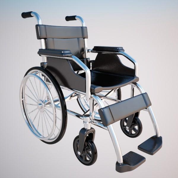 3d model wheelchair chair