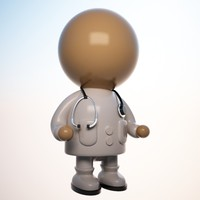 Cartoon Medical Doctor Character (Male)